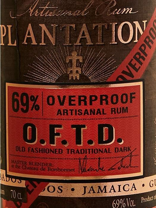 Plantation Overproof OFTD Rum 0,7 Liter für 19,24€ (statt 26€)   Prime
