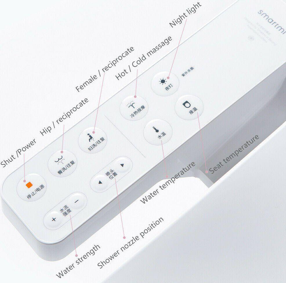 Xiaomi SmartMi WC Sitz mit elektrischem Bidet mit LED Nachtlicht & beheizbarer Brille für 169,99€ (statt 215€)