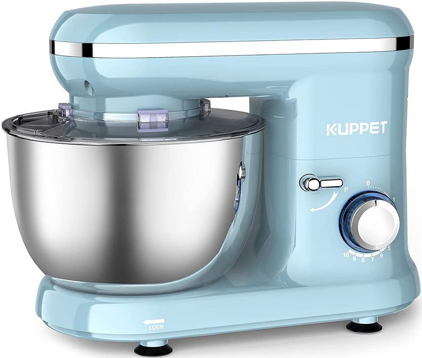 Vospeed Küchenmaschine mit 1.300 Watt und 4.5L Schüssel für 74,99€ (statt 150€)