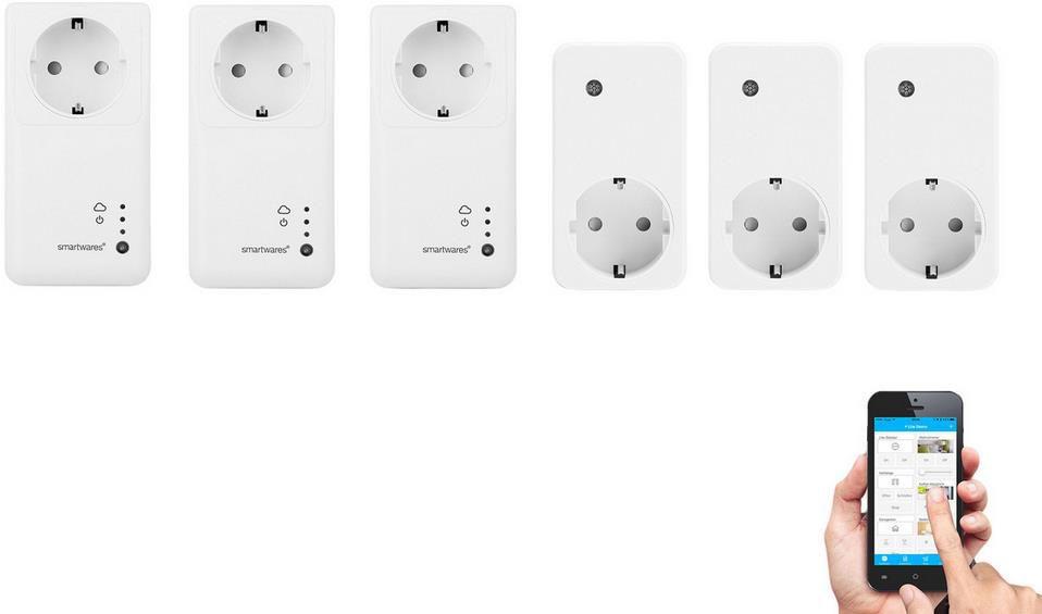 3x Smartwares SH4 99951NE Intelligentes Schalterset für 30,90€ (statt 75€)