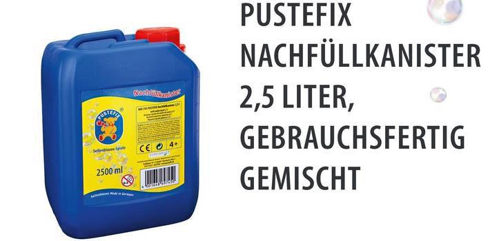 Pustefix   Seifenblasen Nachfüllkanister 2,5 Liter für 9,30€ (statt 13€)   Prime