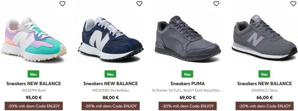 eSchuhe: bis zu 30% Rabatt auf ausgewählte Schuhe + Kostenloser Versand ab 25€