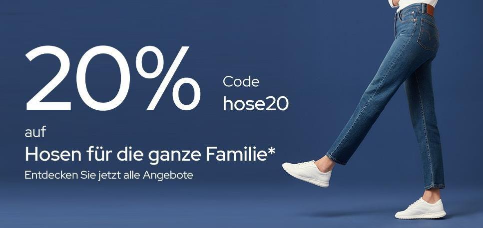 Galeria: 20% auf Hosen! Viele Marken wie z.B. Levis, Jack & Jones, Tom Tailor   Versandkostenfrei ab 49€