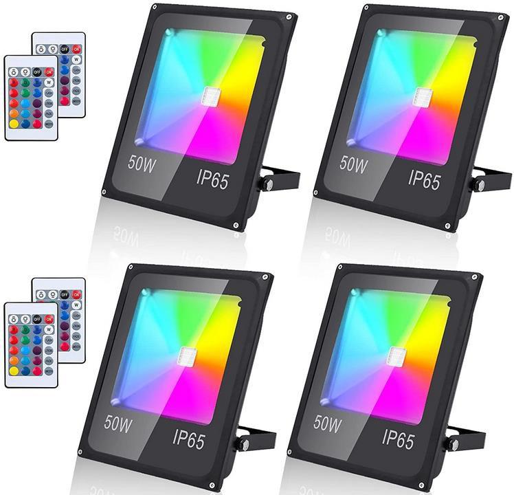 40% Rabatt auf RGB LED Außenstrahler – z.B. 4x 50W für 45,59€ (statt 64€)