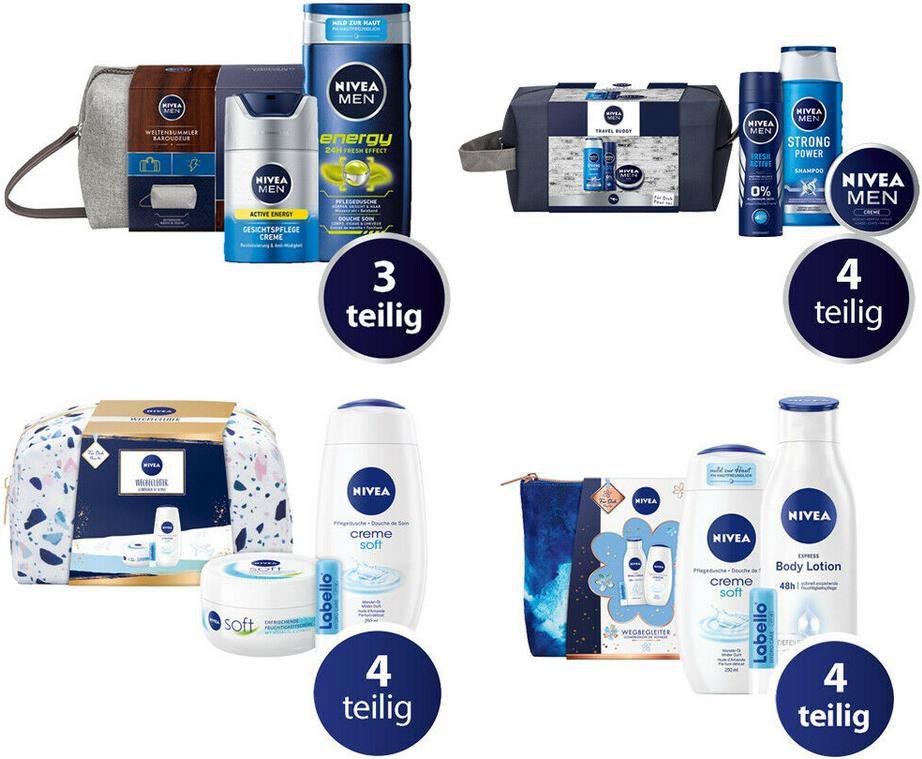 Nivea Geschenksets   4 Verschiedene zur Auswahl für je 9,34€ (statt 14 16€)