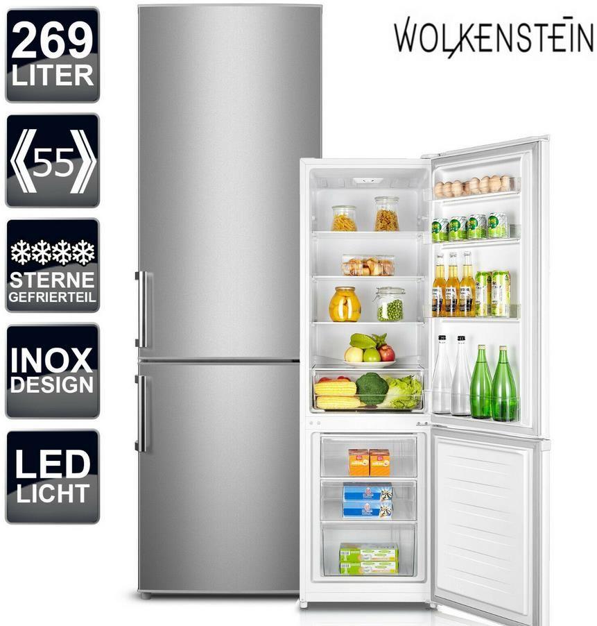 Wolkenstein KGK280D Kühl Gefrierkombination Inox Design für 333,33€ (statt 406€)
