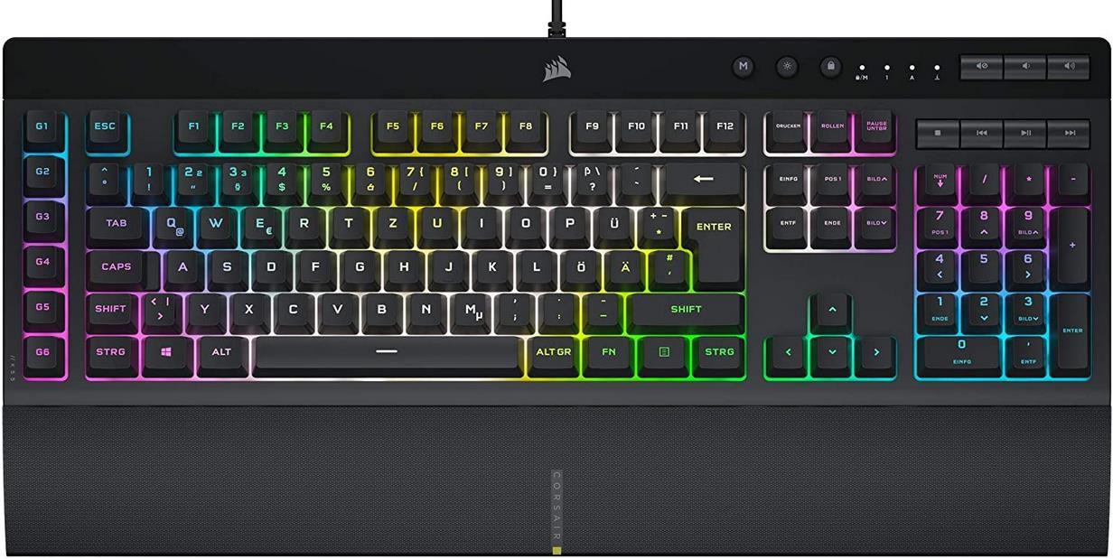 Corsair K55 RGB PRO XT Kabelgebundene Membran Gaming Tastatur für 59,99€ (statt 70€)