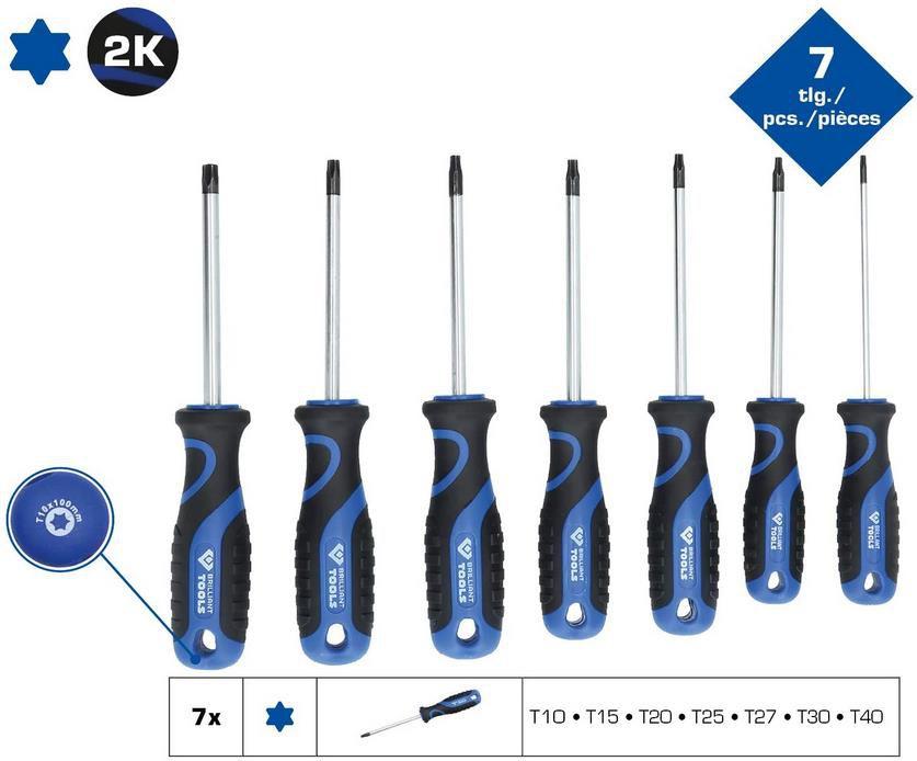 Brilliant Tools BT034007 Schraubendreher Satz mit Torx Profil, 7 tlg für 8,63€ (statt 16€)