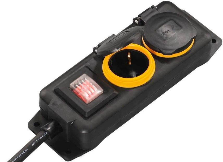 Hama 2 Fach Outdoor Steckdosenleiste mit Schalter für 6,66€ (statt 13€)