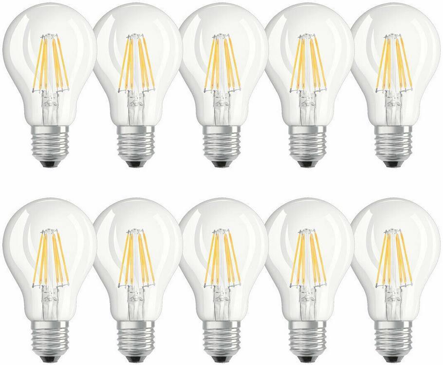 10er Pack Osram LED Filament Leuchtmittel E27 / 2700K für 8,99€ (statt 15€)