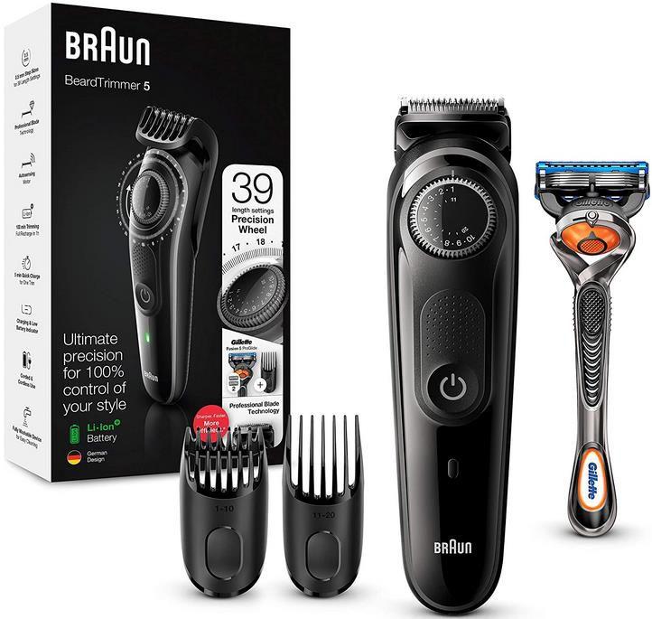 Braun BT5242 Barttrimmer/Haarschneider mit 2 Aufsätzen + Rasierer für 29,99€ (statt 37€)
