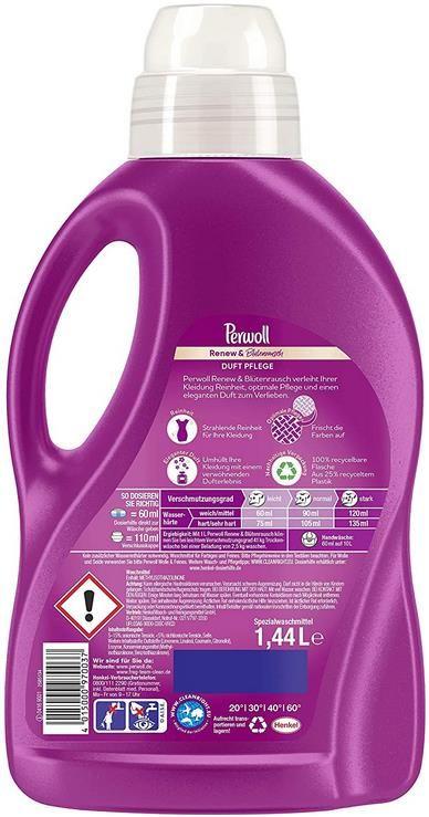 5x Perwoll Renew & Blütenrausch   Feinwaschmittel 1,44 Liter Flasche für 13,12€ (statt 17€)   Sparabo