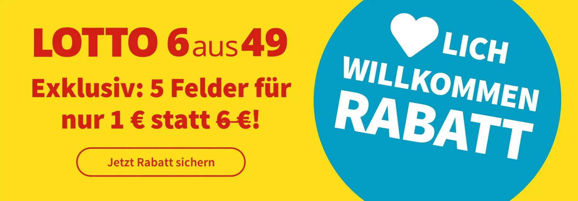 10 Mio. Jackpot: Lotto 6aus49   5 Felder für nur 1€ (statt 6€)   Neukunden