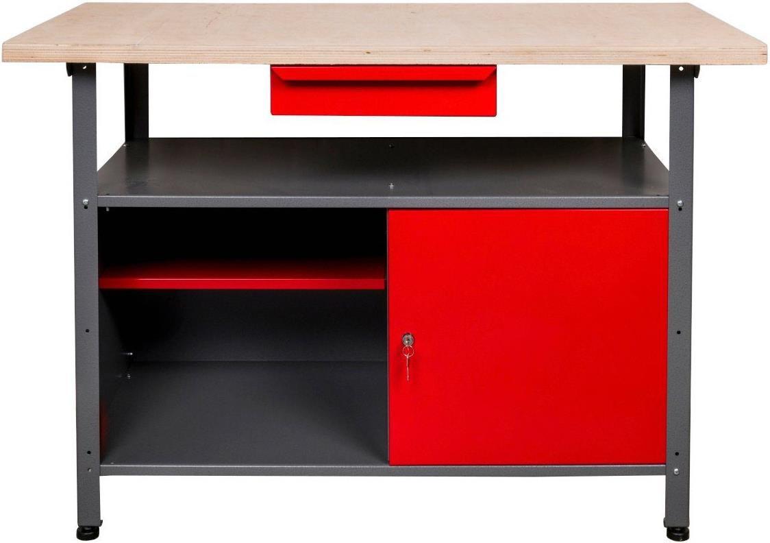 Kreher Werkbank   120x60x85cm mit 30 mm Mehrschicht Arbeitsplatte für 120,21€ (statt 140€)