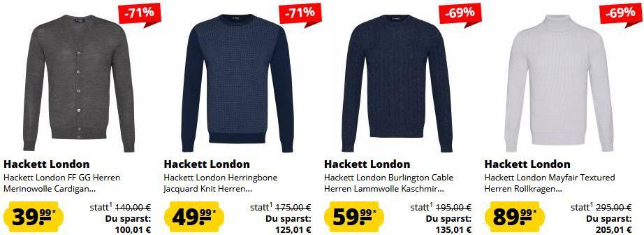 SportSpar: Hackett London Sale mit über 70% Rabatt