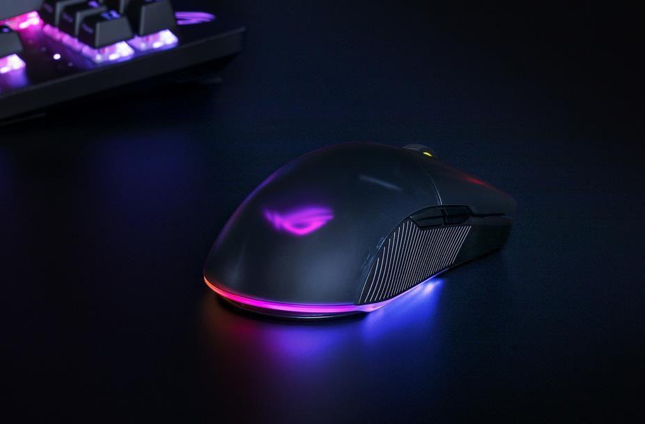 ASUS ROG PUGIO II Wireless   RGB Gaming Maus mit 16.000 dpi für 49,99€ (statt 66€)