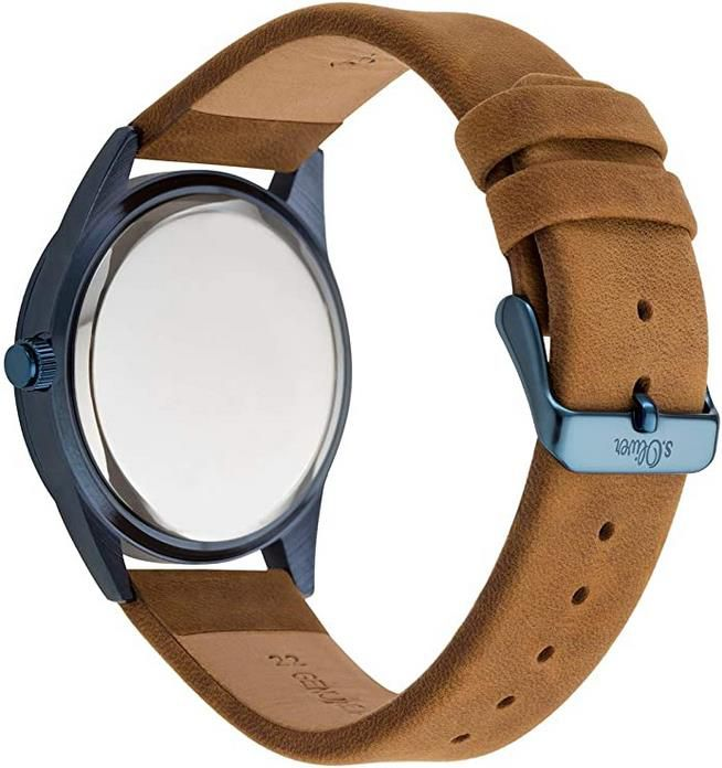 s.Oliver SO 3571 LM Herren Quarz Armbanduhr mit Lederarmband für 44,79€ (statt 75€)