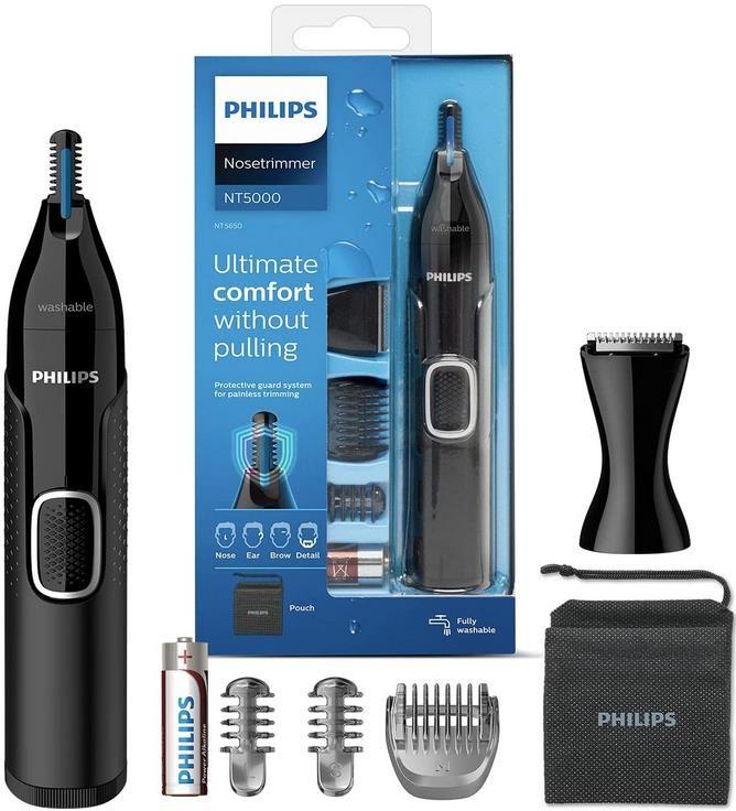 Philips NT5650/16 Series 5000   Nasen und Ohrenhaartrimmer für 15,99€ (statt 23€)   Prime