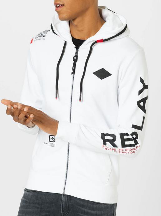 Replay Herren Sweatshirtjacke in Schwarz/Weiß für 79,92€ (statt 119€)