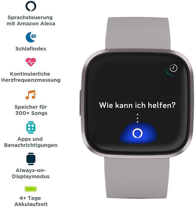 Fitbit Versa 2 Amazon Exclusive – Gesundheits  und Fitness Smartwatch für 129,95€ (statt 170€)
