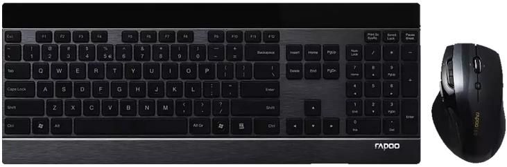 RAPOO 8900P   kabelloses Tastatur & Maus Set für 51,99€ (statt 64€)