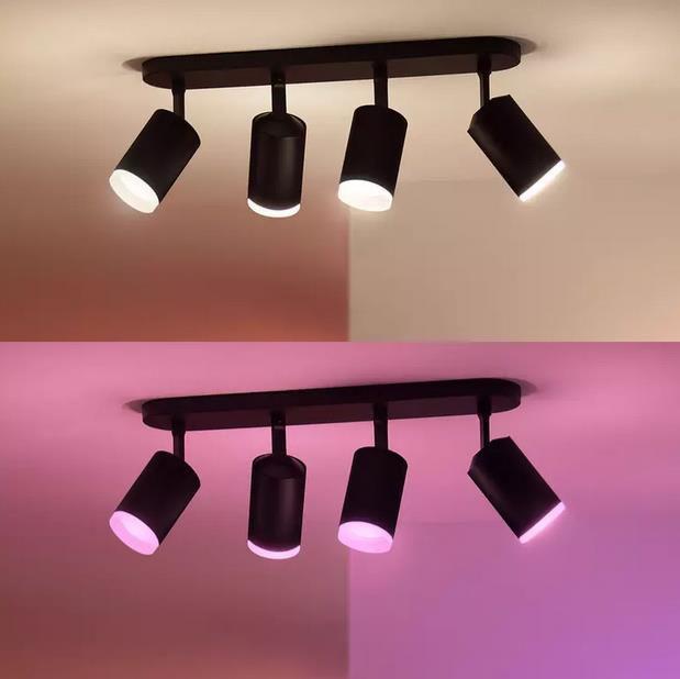 Philips Hue White & Color Ambiance Fugato 4er Spot Lampe für 205,75€ (statt 238€)