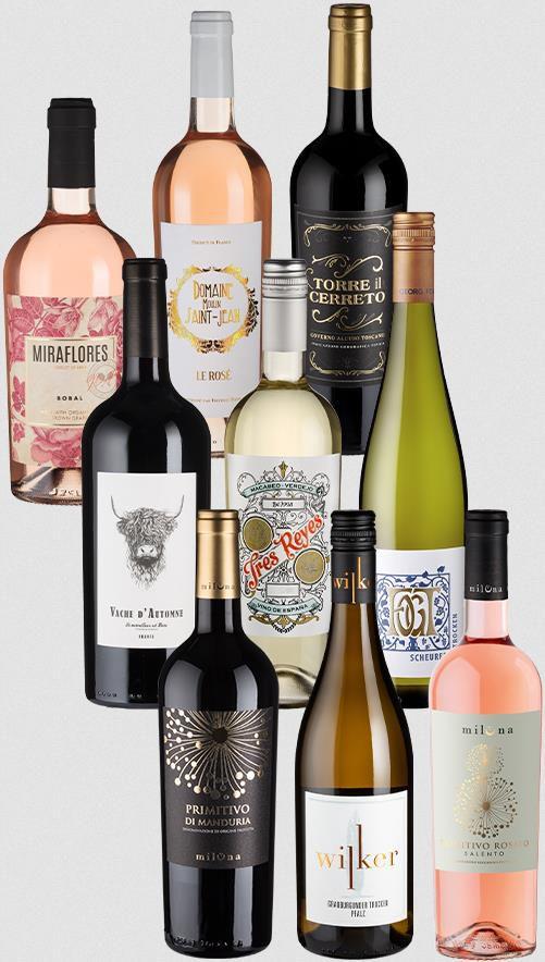 Weinfreunde: 9er Paket GLAMOUR Highlights für 60€ (statt 80€)