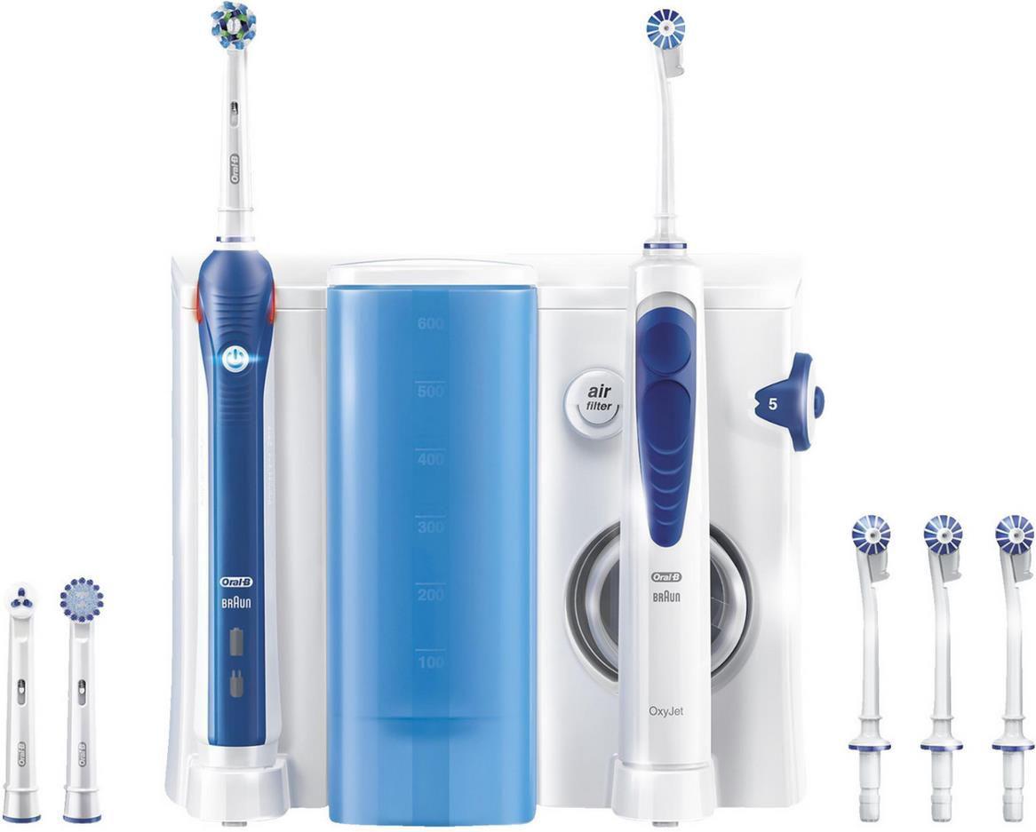 Oral B Mundpflege Center Pro 2000 Elektrische Zahnbürste + Oxyjet Munddusche für 67,99€ (statt 85€)