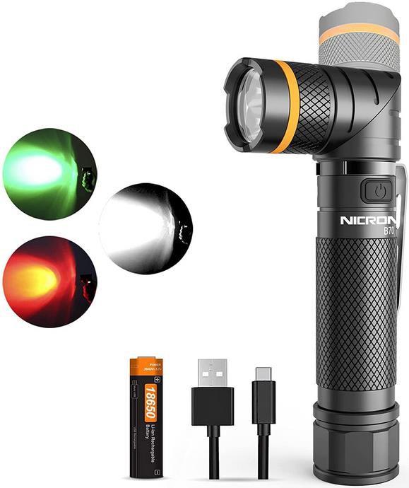 NICRON   Aufladbare LED Taschenlampe mit 1.200 Lumen ab 29,99€ (statt 42€)