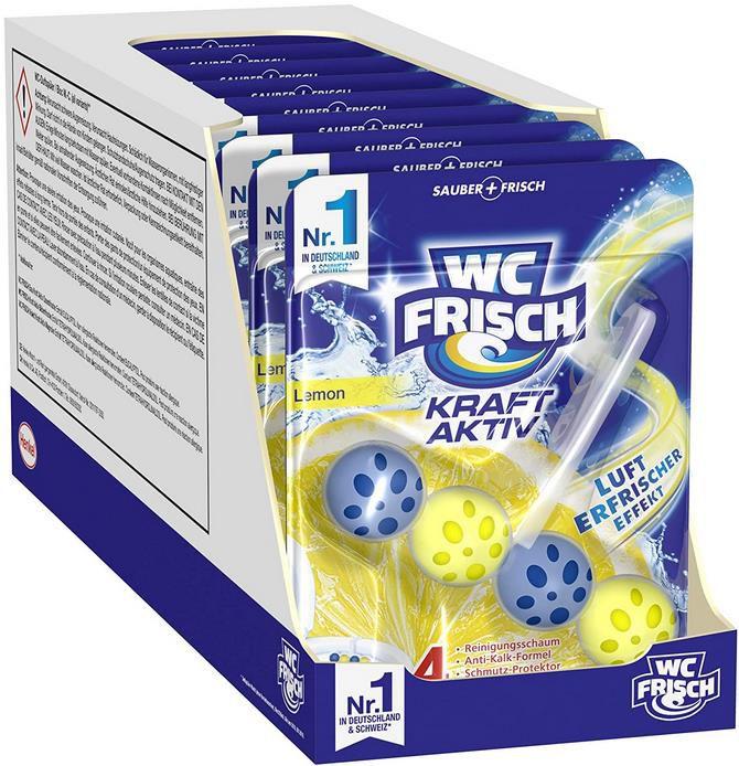 10er Pack WC Frisch Kraft Aktiv Duftspüler Lemon für 8,88€ (statt 11€)   Sparabo