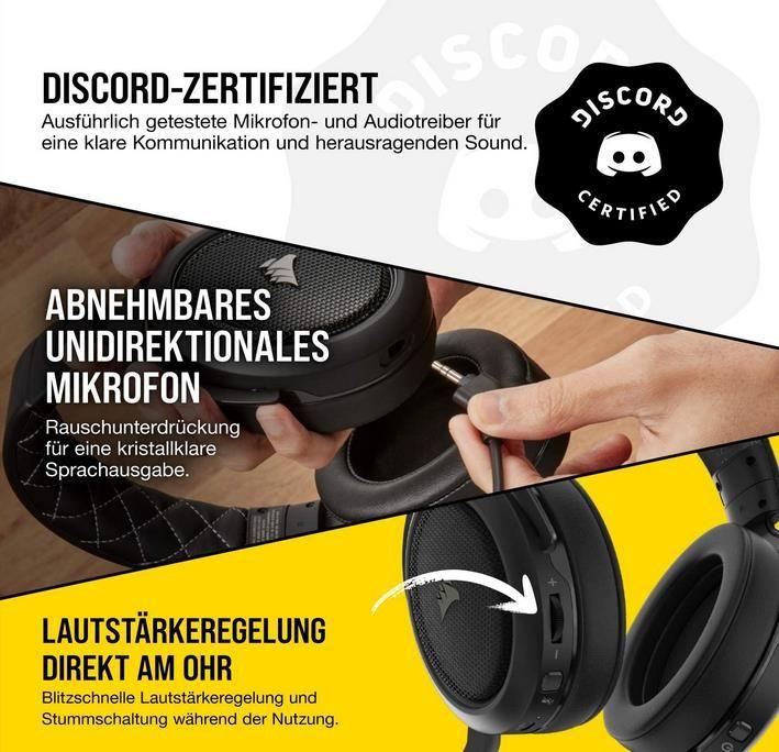 Corsair HS70 Pro Wireless Gaming Headset mit 7.1 Surround Sound für 79,99€ (statt 89€)