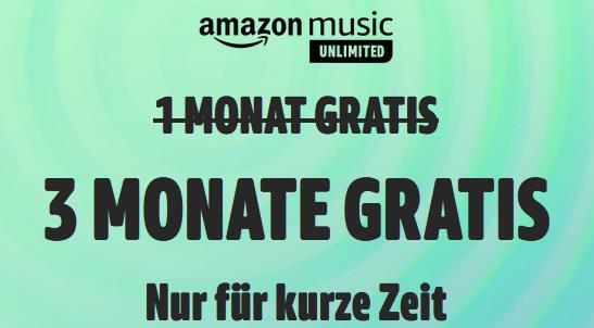 3 Monate Amazon Music Unlimited inkl. HD GRATIS   Nur für Neukunden