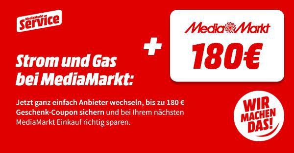 MediaMarkt: Strom & Gas Tarife von vor 3 Monaten abschließen und ordentlich sparen!