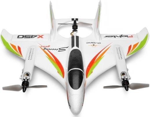 WLtoys XK X450 RC Flugzeug 2.4G 6CH für 76,49€ (statt 124€)