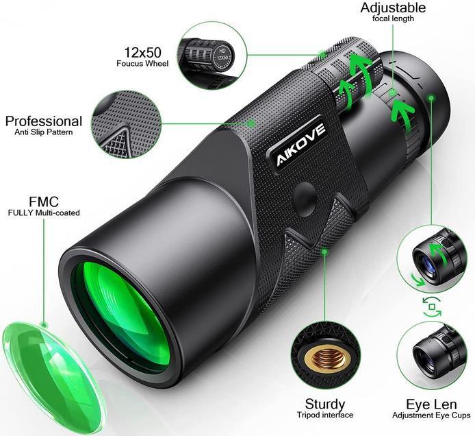 TLOOL HD Zoom Fernglas mit Smartphone Halter und Stativ für 12,99€ (statt 26€)