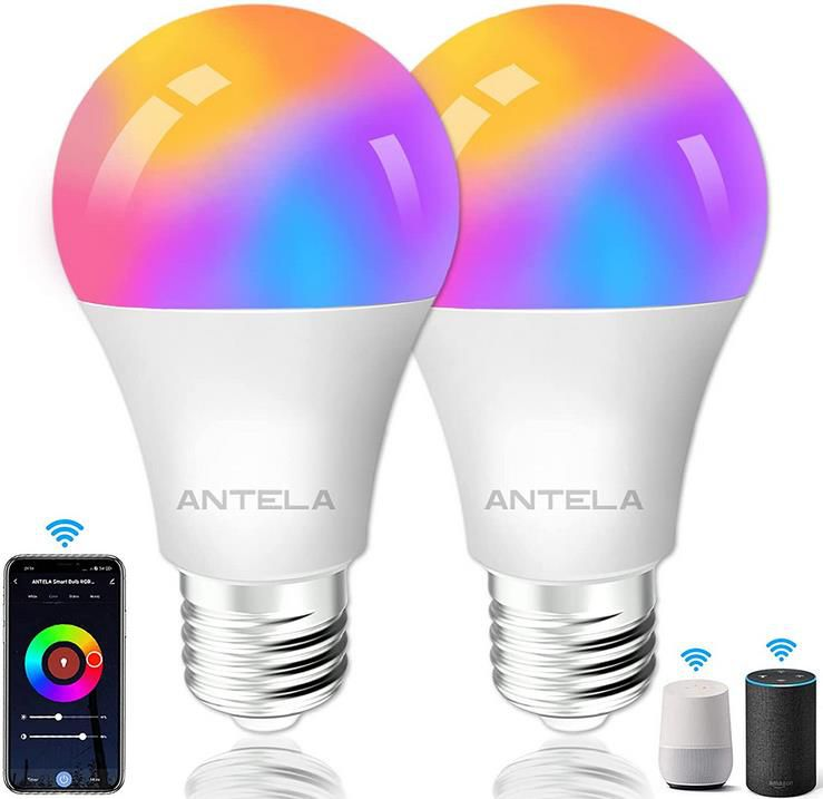 Antela Glühbirnen E27, 10W, 1000LM mit Alexa Support für 13,29€ (statt 19€)