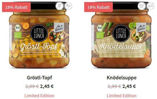 Little Lunch Suppen ab 2,25€   Neue Sorten im Angebot + keine VSK ab 35€