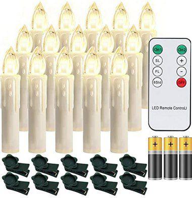 30% Rabatt auf verschiedene LED-Weihnachtskerzen mit Fernbedienung – z.B. 30 Stück für 25,19€ (statt 36€)