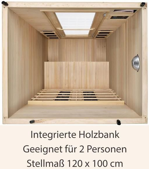 Artsauna Infrarotkabine Oslo mit Keramikstrahlern & Hemlockholz ab 999€ (statt 1.198€)