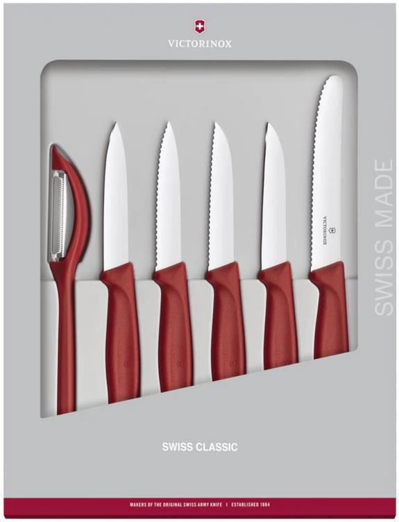 Victorinox Swiss Classic Gemüsemesser Set in Rot   6 teilig für 27,94€ (statt 37€)