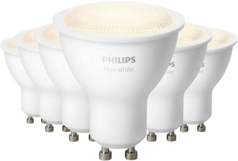 6er Pack Philips Hue LED Spots   5,5W GU10 für 65,94€ (statt 105€)
