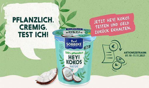 Pflanzliche Joghurtalternative von Söbbeke gratis ausprobieren