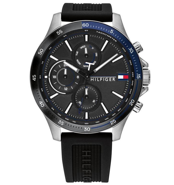 Tommy Hilfiger Bank Herren Mode Uhr 46mm für 84,99€ (statt 126€)