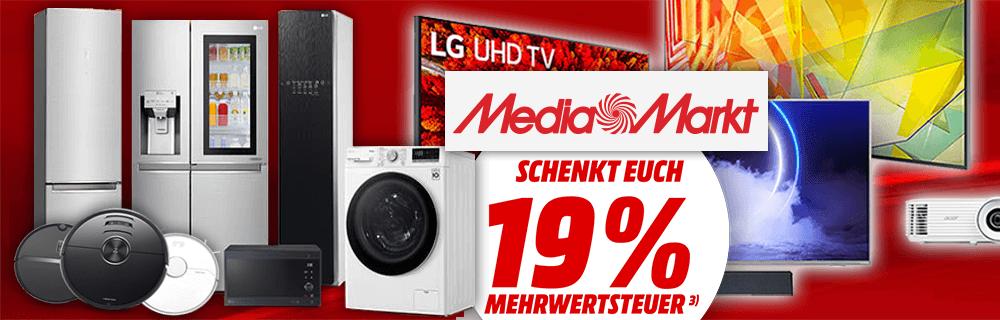 Media Markt: ausgewählte Artikel ohne MwSt