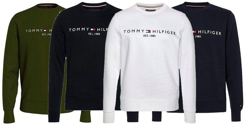 Tommy Hilfiger Sweatshirt TOMMY LOGO SWEATSHIRT in 4 Farben ab je 47,99€ (statt 75€)