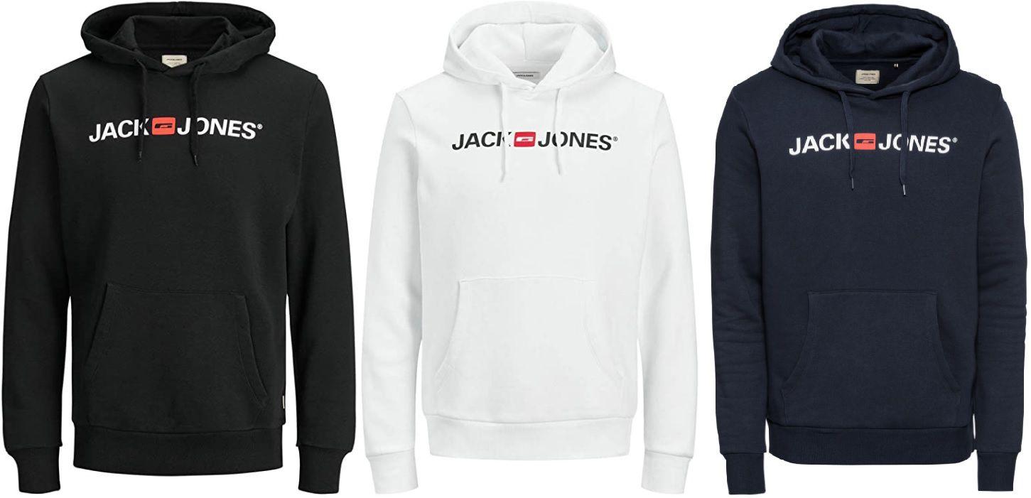 JACK & JONES Hoodie in Schwarz, Weiß oder Navy ab 17,99€ (statt 25€)