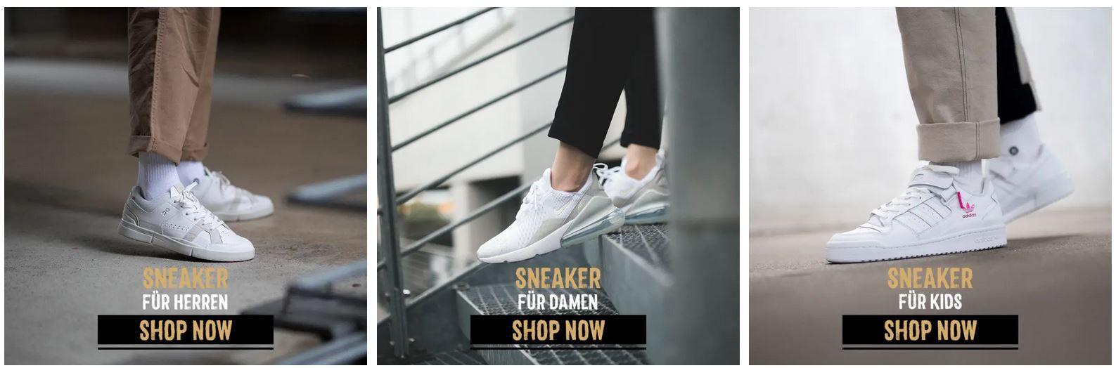 SNEAXS mit 20% Rabatt auf Alles, auch im Sale   Top Sneaker zu gutenPreisen
