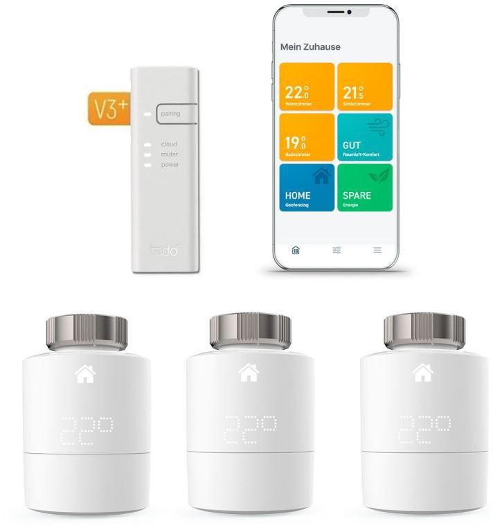 tado Starter Kit V3+ mit 3 Thermostaten und Bridge für 169€ (statt 232€)