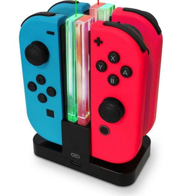 EAXUS 2er Set Joy Con Controller für Nintendo Switch + Docking Ladestation für 38,99€ (statt 54€)