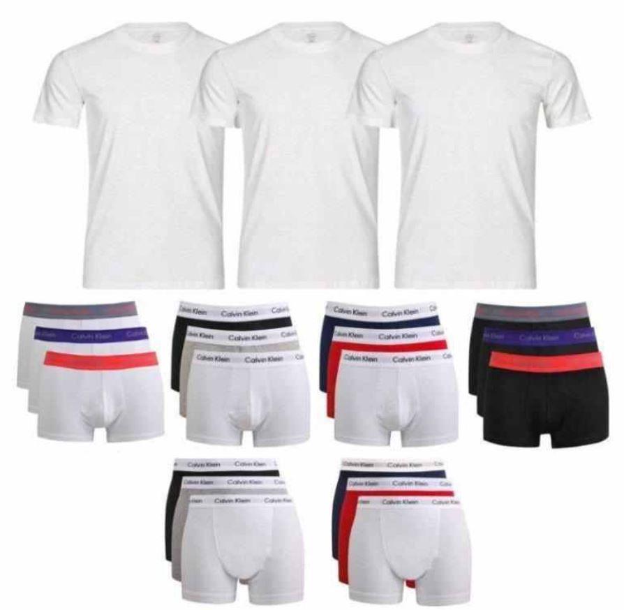 calvin klein 3er pack rundhals t shirts oder boxershorts. Black Bedroom Furniture Sets. Home Design Ideas